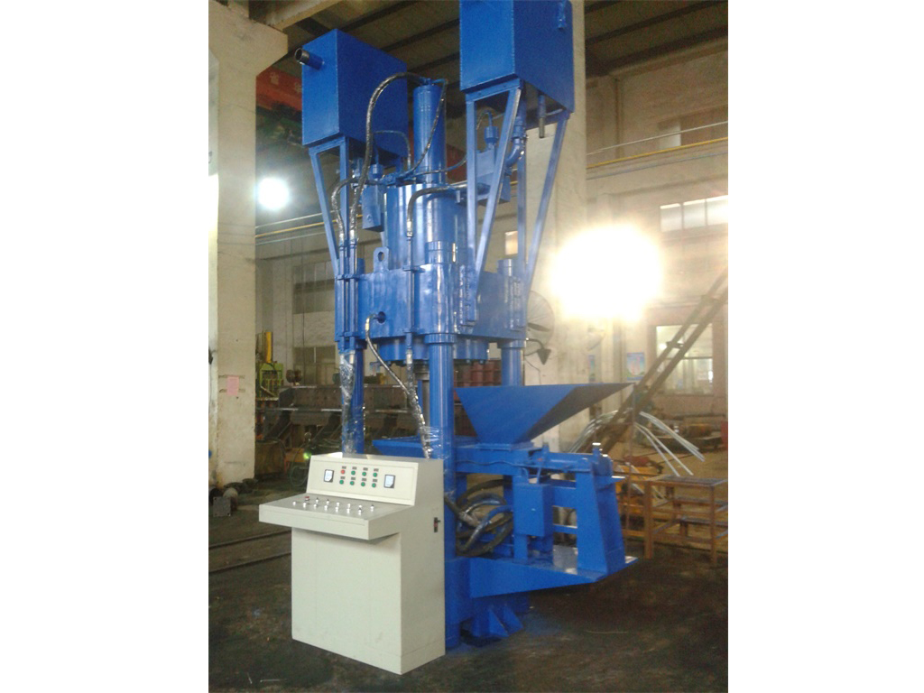 Y scrap metal sawdust briquette press